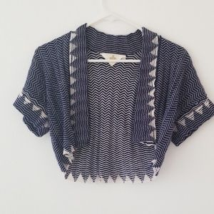 Anthropologie | HWR cropped embroidered cardigan